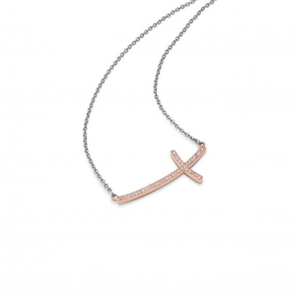 CEM Collier Damen Schmuck Halskette Edelstahl silber-farbig Mesh-Optik ST6-071